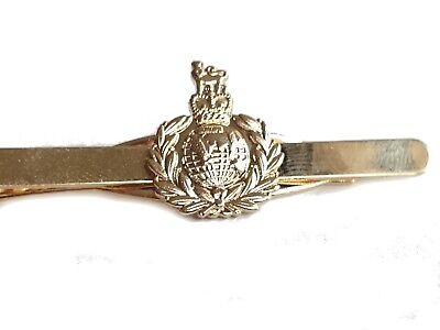 £6.99 • Buy Royal Marines Tie Clip Military Tie Slide Pin Gold Coloured