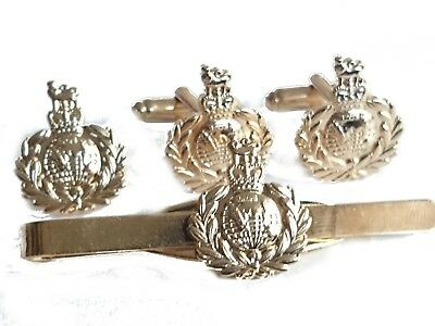£8 • Buy Royal Marines Cufflinks, Tie Clip, Lapel Badge, Set Or Individual Coloured Gold
