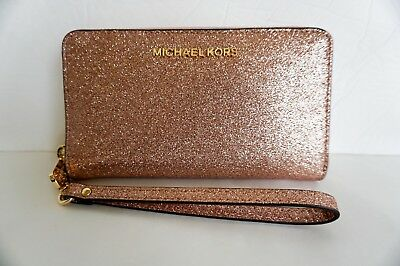 cacc07aadb277a NWT Michael Kors GIFTABLES Large Multifunction Phone Wristlet Rose Gold  Gift Box • 79.99$