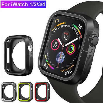 $ CDN3.12 • Buy For Apple Watch Series 1/2/3 4 Silicone TPU Bumper Case Cover For IWatch 40/44mm