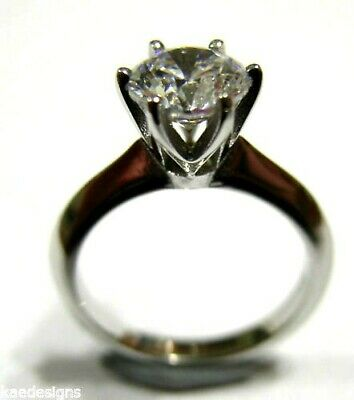 AU317.98 • Buy 9ct 375 Solid White Gold Claw Set Engagement Ring Size J - Free Express Post