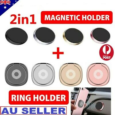 AU9.99 • Buy Phone Smart Ring Holder Grip Socket Stand Dock Magnetic Mount Pop Bracket Combo