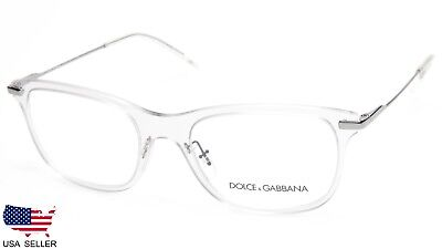719da04e5f7 NEW D G Dolce   Gabbana DG1293 04 CLEAR EYEGLASSES GLASSES 53-19-145 B38mm