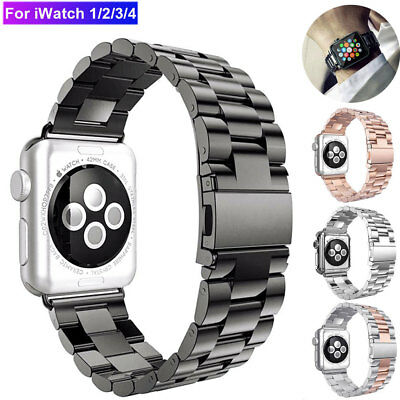 $ CDN13.28 • Buy For Apple Watch IWatch 5/4/3/2 Stainless Band Watch Strap Bracelet 38/40/42/44mm