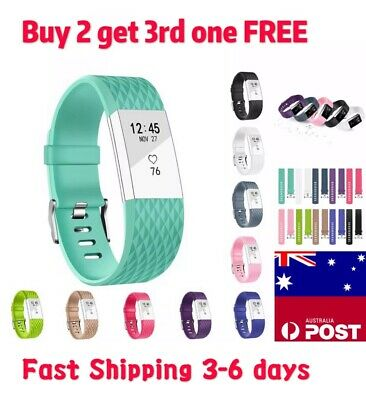 AU5.99 • Buy Replacement Fitbit Charge 2 Wristband Silicone Watch Wrist Sports Band Strap New