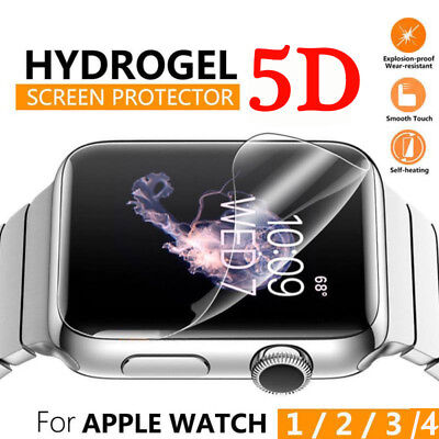 $ CDN1.69 • Buy 5D Full Cover Hydrogel Screen Protector Film Soft For Apple Watch Series 4 44mm