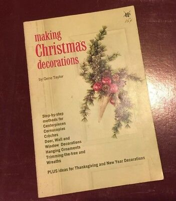 $ CDN7.59 • Buy Vintage Making Christmas Decorations By Gene Taylor 1964 Holidays Booklet