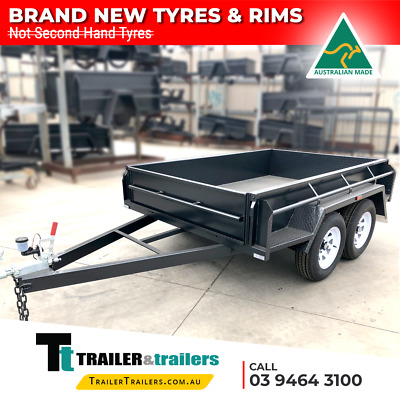 AU2680 • Buy 9x5 TANDEM AXLE BOX TRAILER | FULL CHECKERPLATE | 15  HIGH SIDES + NEW WHEELS