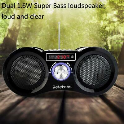 Portable FM Radio Stereo Digital Speaker USB Rechargeable MP3 Player Remote UK • 16.91£