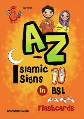 A-Z Of Islamic Signs FLASHCARDS In BRITISH SIGN LANGUAGE (Colour - HB - BSL) • 6.99£