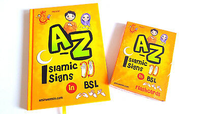 A-Z Of Islamic Signs Book & FLASHCARDS In BRITISH SIGN LANGUAGE (Set Of 2) (HB) • 14.99£