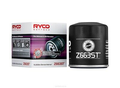 AU23.76 • Buy Ryco Syntec Oil Filter Z663ST Fits HSV Clubsport VE 6.0 V8 (307kw), VE 6.2 V8...