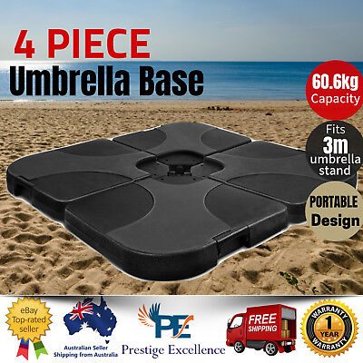 AU119.97 • Buy 3M Umbrella Base Stand Outdoor Patio 4-Piece Weight Water Sand Cantilever Offset