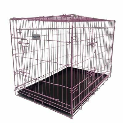 £23.99 • Buy HugglePets Dog Cage PINK BLUE Puppy Crate With Tray Small Medium Large Training