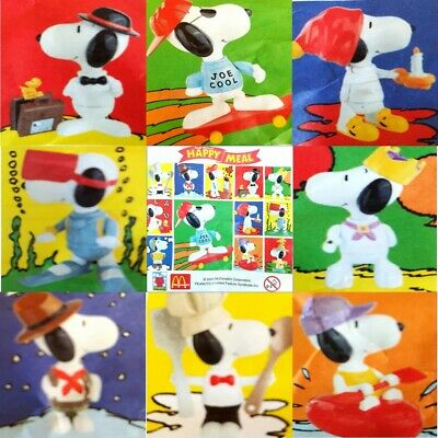 £7.75 • Buy McDonalds Happy Meal Toy 2000 Build Your Own Snoopy Plastic Figures - Various