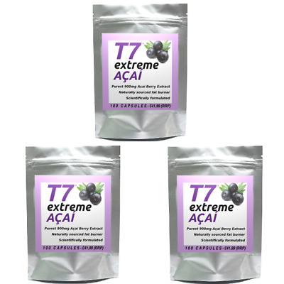 300 T7 EXTREME ACAI BERRY Purest 900mg Strongest Diet Pills SLIMMING/WEIGHT LOSS • 20.25£