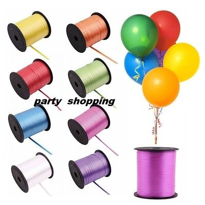 60 METERS BALLOON CURLING RIBBON FOR PARTY GIFT WRAPPING BALLOONS STRING TIE New • 1.99£