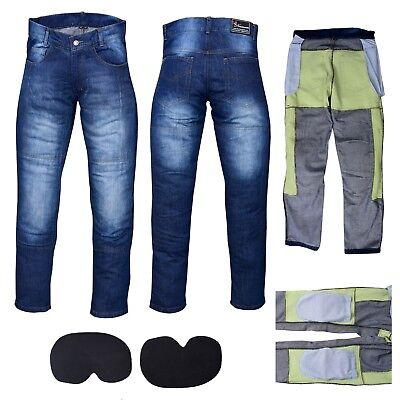 £31.99 • Buy Men's Motorbike Motorcycle Jeans Reinforced Denim With Protective Lining Trouser
