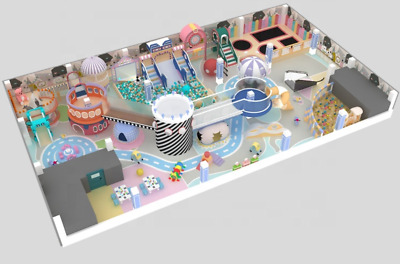 £218067.18 • Buy 8,000 Sqft Commercial Indoor Playground Interactive Soft Play Turnkey We Finance