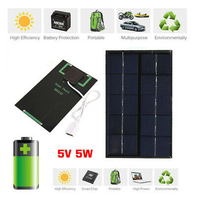 AU6.22 • Buy 5W 5V USB Solar Panel Charger USB Port Cellphone Use Travel Portable