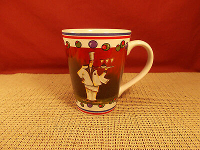 $6.95 • Buy Roscher & Co. Dinnerware Martini Chefs Pattern Mug 4 3/8