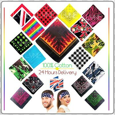 £2.99 • Buy 24 Hours Delivery Bandanna Headwear/Hair Band Scarf Neck Wrist Wrap Band Head