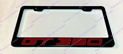 Mustang GT 350 Red Style Black Stainless Steel License Plate Frame W/ Caps • 12.85$