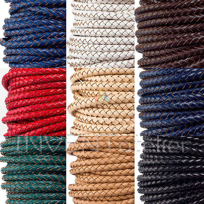 £4.75 • Buy Top Quality Braided Real Leather Cord 5mm 6mm Jewellery Making