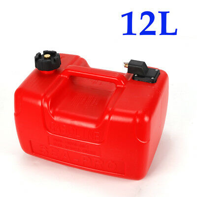 $49.19 • Buy 12L Gas Tank Gasoline Diesel Outboard Fuel Tanks For Boat Portable 3.2 Gallon US
