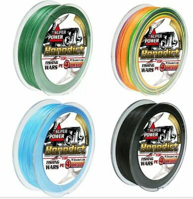 AU16.99 • Buy **FREE SHIPPING** 300m 500m 1000m BENEDICT Fishing Line PE Braid Yellow Black