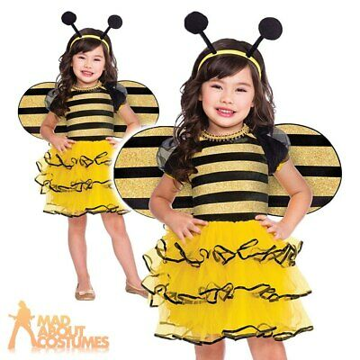 £11.99 • Buy Kids Bumblebee Costume Girls Bug Book Week Day Insect Childs Fancy Dress Outfit