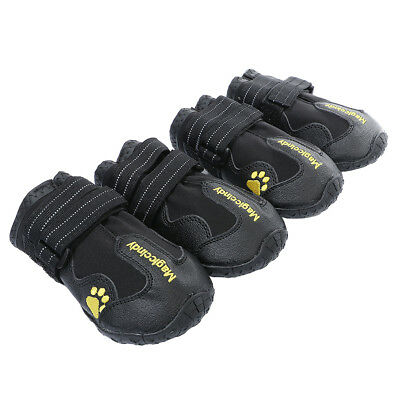 Large Dog Non Skid Shoes Snow Boots Reflective Waterproof For Husky S Black • 11.97£