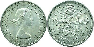 Lucky Sixpence Uk Gb Elizabeth Ii.  Choose Your Date!     One Coin/buy! • 0.99£
