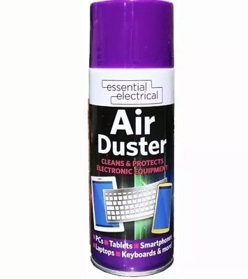 1x Compressed Air Duster Cleaner Spray Can Protect Laptops Keyboard Mouse 400ml • 8.99£
