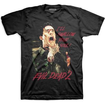 £17.99 • Buy Official Licensed - Evil Dead 2 - Swallow Your Soul T Shirt Studio Canal Horror