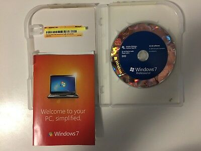 Microsoft Windows 7 Professional 32/64 Bit Retail Box FQC-00133 English DVD ROW • 77.83£