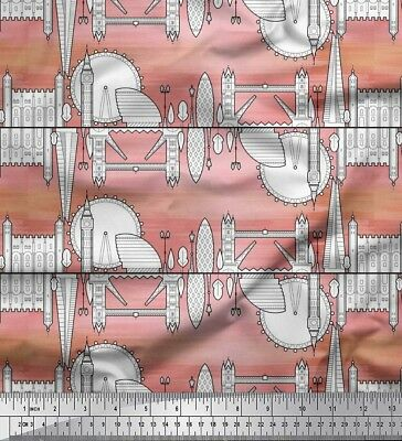 £13.99 • Buy Soimoi Fabric London Theme Architectural Print Fabric By The Meter-AT-26E