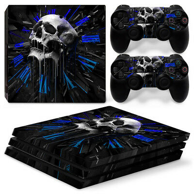 AU16.08 • Buy Skull Clock For Sony Playstation PS4 PRO Console Stickers & 2 Controllers Skin