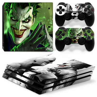 AU16.92 • Buy Joker Batman Skin For Playstation PS4 PRO Console Stickers & 2 Controllers Skin
