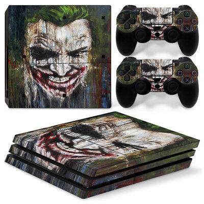 AU16.92 • Buy Batman Joker For Sony Playstation PS4 PRO Console Stickers & 2 Controllers Skin