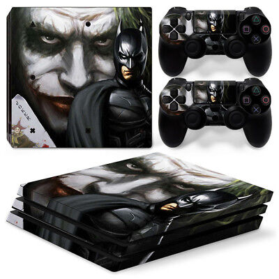 AU16.92 • Buy Batman Joker Skin For Playstation PS4 PRO Console Stickers & 2 Controllers Skin