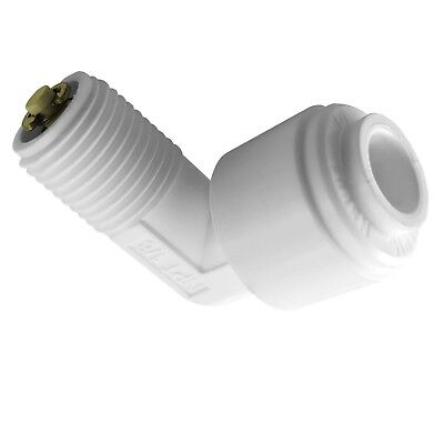 £3.25 • Buy Elbow Quick Connector 1/4  Push Fit Tube X 1/8  Thread Male Check Valve For RO
