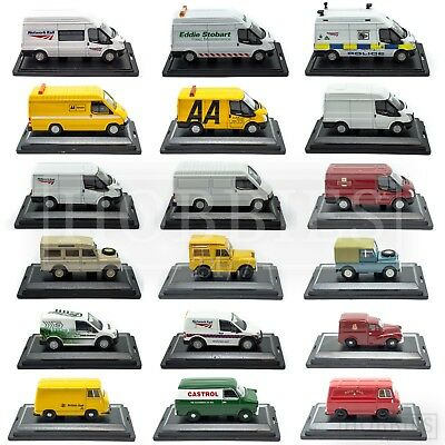 Oxford Diecast Vans 1:76 00 Scale Commercial Ford Transit Land Rover Morris Rail • 8.99£