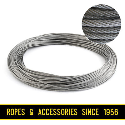£1.19 • Buy Galvanised Steel Wire Rope Cable 1mm 1.5mm 2mm 3mm 4mm 5mm 6mm FREE DELIVERY