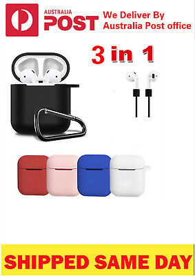 AU6.65 • Buy For Apple Airpod Shockproof Airpods AU Strap Holder & Silicone Case Cover Skin