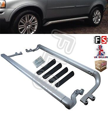 Volvo Xc90 Mk1 Aluminium Side Steps Xc 90 Running Board Bars 2002-2014 100% Fit • 249.99£