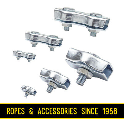 £1.19 • Buy Wire Rope Clamp Simplex Duplex Galvanised Zinc Plated 2mm 3mm 4mm 5mm 6mm 8mm