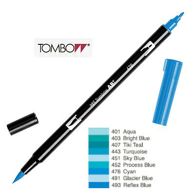 Tombow : Dual Brush Pen  ABT 401 To 493  Blue Shade • 2.49£