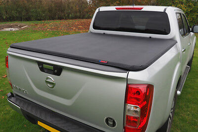 SOFT TONNEAU COVER For Nissan Navara NP300 2016+ Double Cab Soft Roll Bed Cover • 178.50£