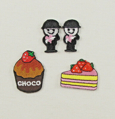 £1.79 • Buy SMALL CHOCO CUPCAKE STRAWBERRY CAKE FLOUR MAN Embroidered Iron On Sew On Patch